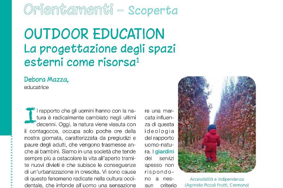 Outdoor Education: la progettazione degli spazi esterni