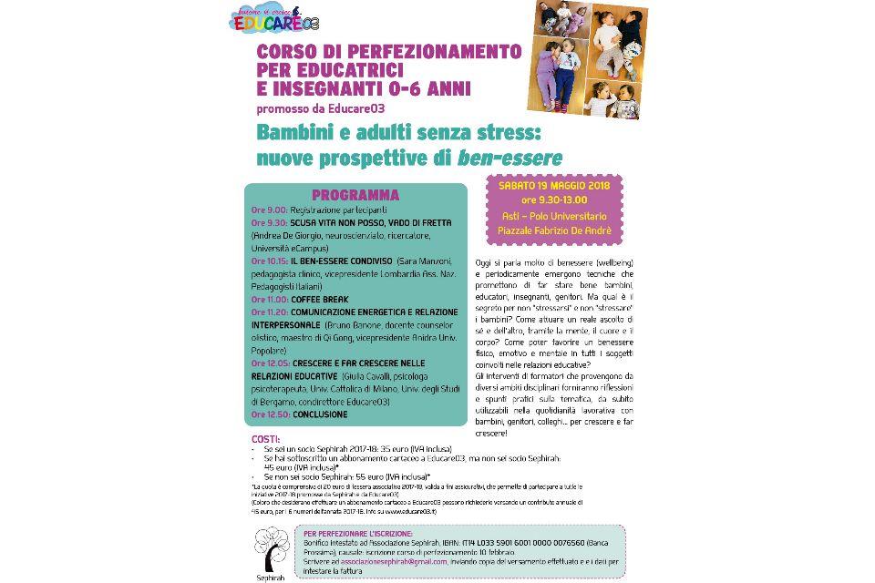 Bambini e adulti senza stress: nuove prospettive di ben-essere (Asti) - Immagine: 3