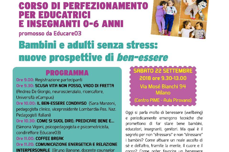 Bambini e adulti senza stress: nuove prospettive di ben-essere (Milano)