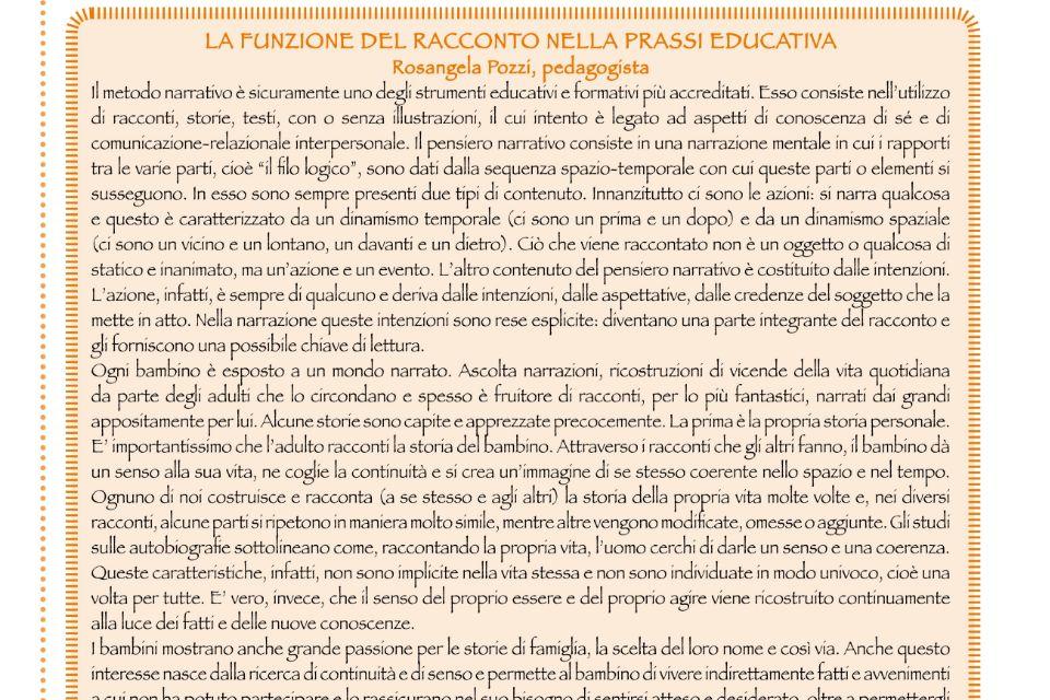La funzione del racconto nella prassi educativa