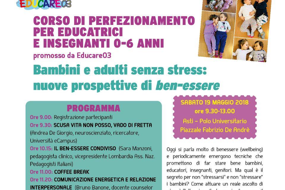 Bambini e adulti senza stress: nuove prospettive di ben-essere (Asti)