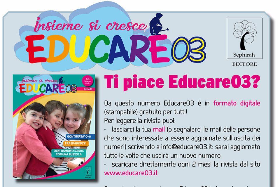 Educare03 - Numero 1 - Settembre/Ottobre 2017 - Immagine: 3